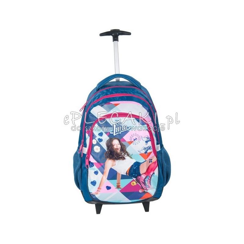 c1c544f7872b6 Plecak szkolny na kółkach Soy Luna - niebieski dla dziewczynki