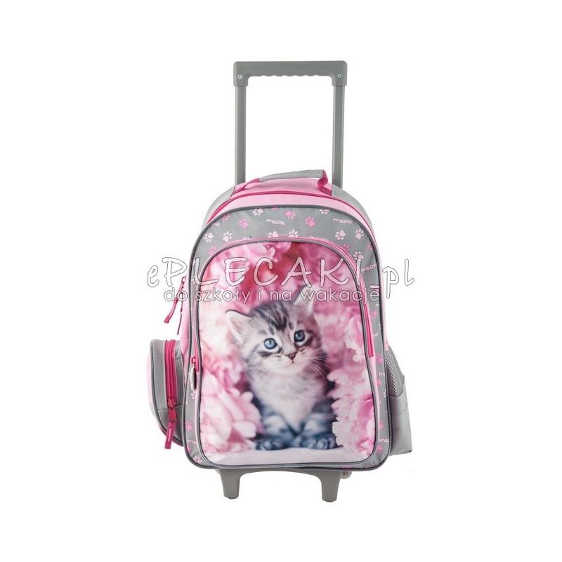 773ad2e88a75d Plecak z kotem różowy plecak na kółkach dla dziewczynki
