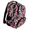 Plecak młodzieżowy 07 ST.RIGHT FLAMINGO PINK&BLACK flaming czarno-biały