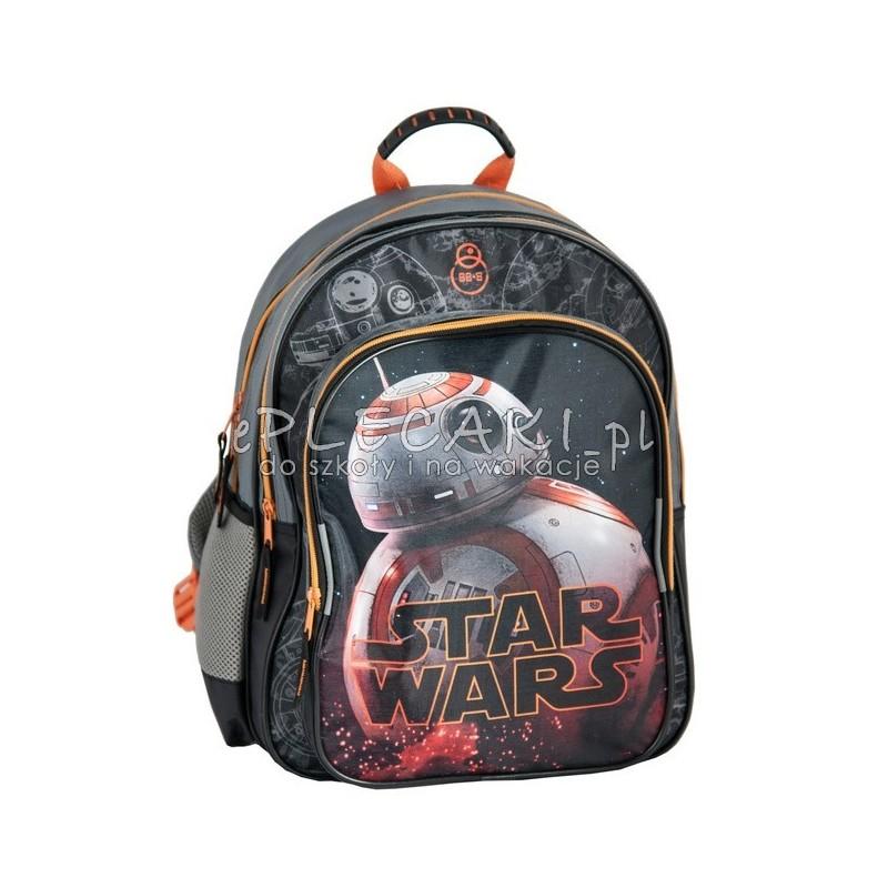 f90fddb4ed82e Czarny plecak szkolny Star Wars Gwiezdne wojny z droidem Episode VII dla  chłopca