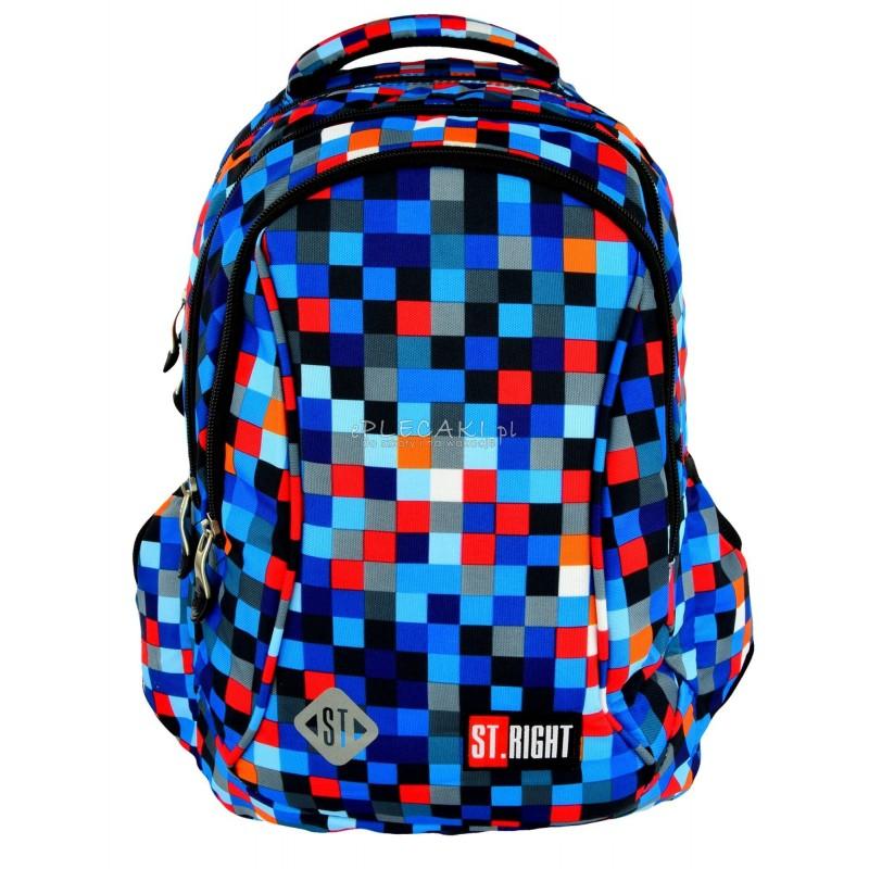 1ec0e438a4405 Plecak do pierwszej klasy 26 ST.RIGHT PIXELMANIA BLUE niebieskie piksele ...