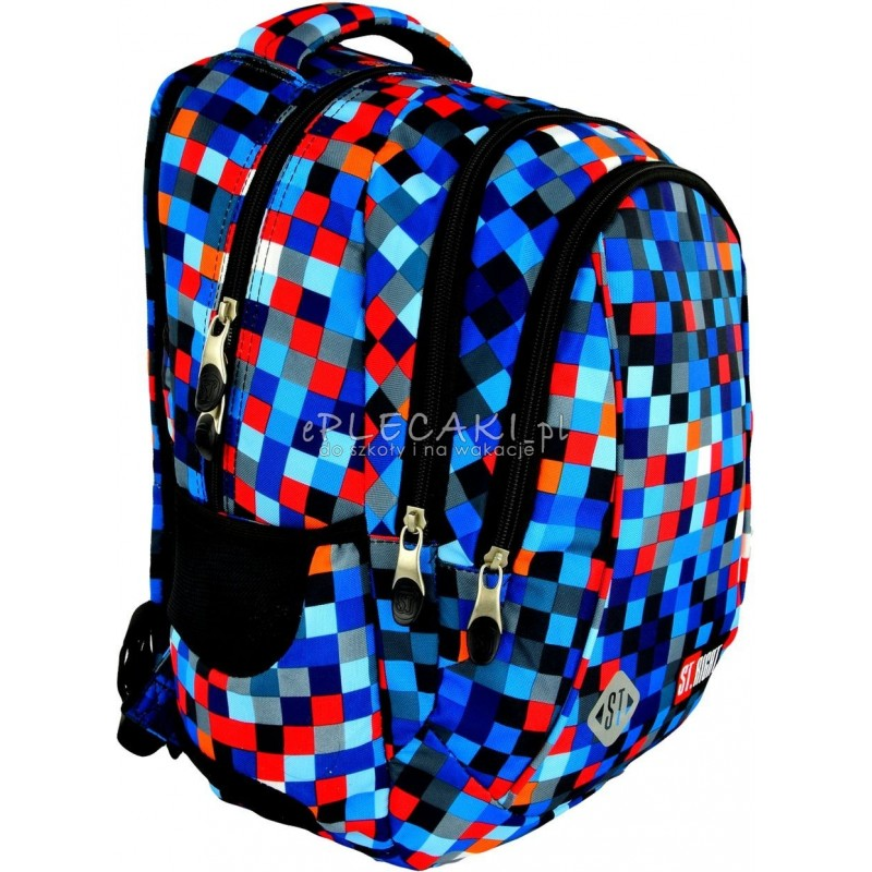 891528ffb5ad4 Plecak do pierwszej klasy 26 ST.RIGHT PIXELMANIA BLUE niebieskie piksele