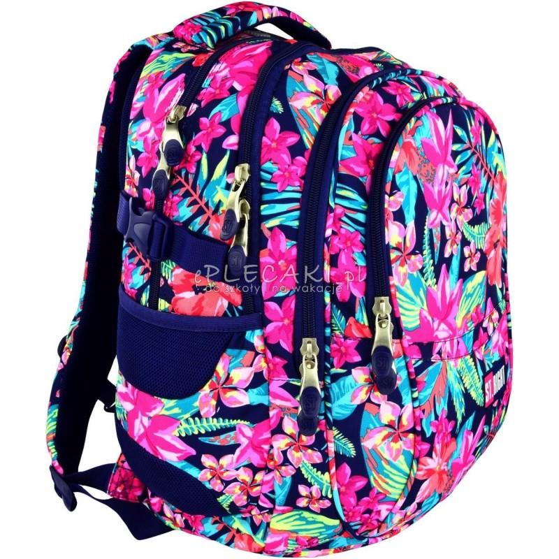 a6905b7a8a31f Plecak szkolny ST.RIGHT Flower Power w kiwaty dla dziewczynki
