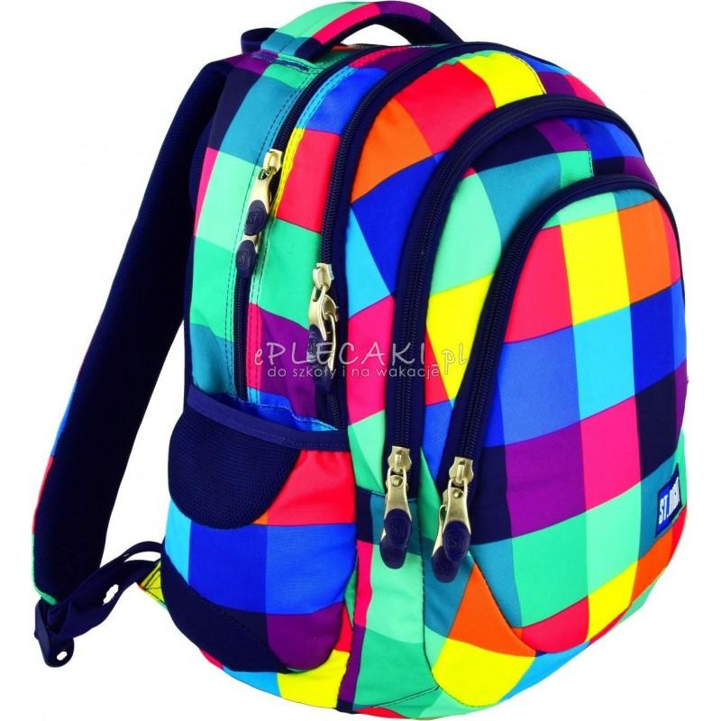 ce388b3f2d4e2 Plecak młodzieżowy 06 ST.RIGHT MAXI SQUARES kolorowe kwadraty