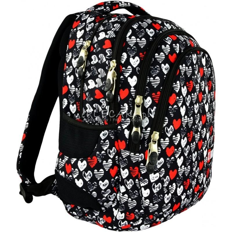 0e797c3a66820 Plecak szkolny 06 ST.RIGHT Heartbeat w serduszka dla dziewczynki