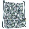 Worek / plecak na sznurkach ST.RIGHT FLOWERS GREEN w kwiaty