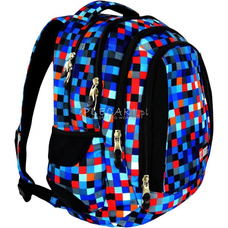 Plecak młodzieżowy 04 ST.RIGHT PIXELMANIA BLUE niebieskie pixele