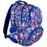Plecak młodzieżowy 07 ST.REET niebieski w kwiaty FLOWERS NAVY BLUE