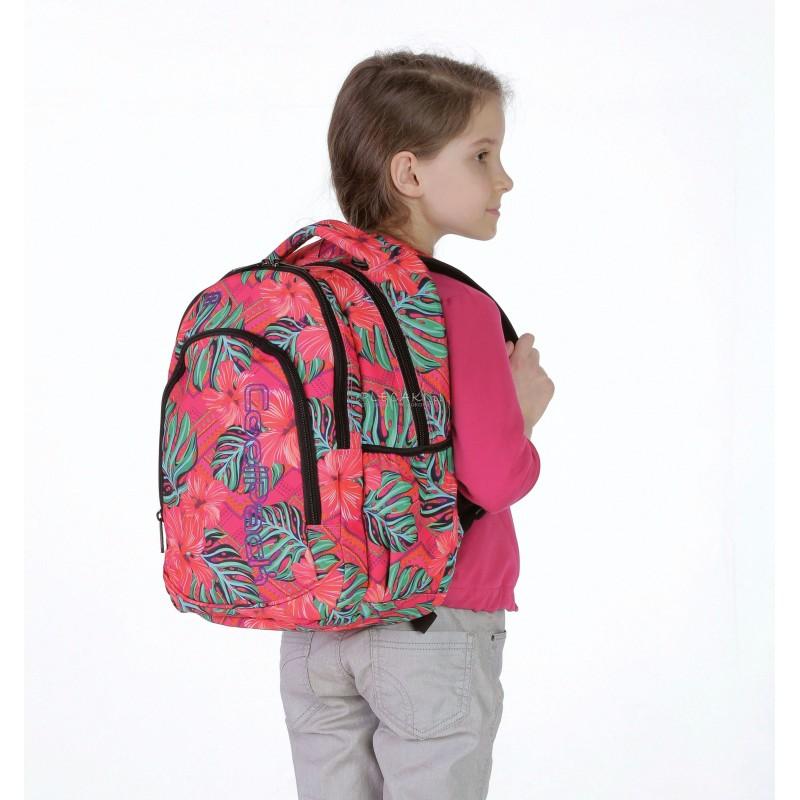 44d79cc82f8be Plecak dla pierwszoklasistki CoolPack CP egzotyczne kwiaty PRIME CARIBBEAN  BEACH 1062 czerwony plecak dla dziewczynki ...