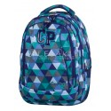 Plecak młodzieżowy CoolPack CP niebieski w trójkąty 2w1 COMBO PRISM 681