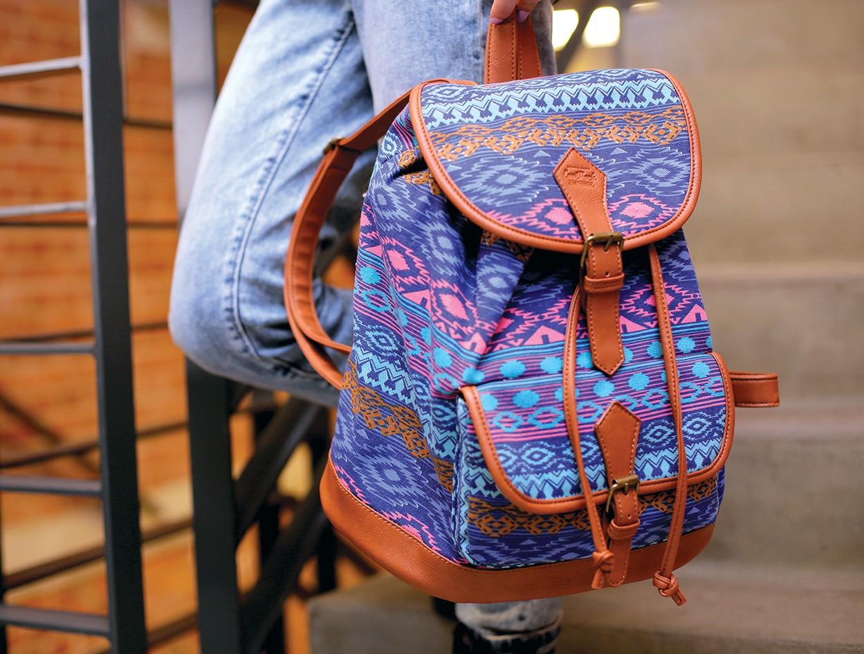 e7c253414e058 Plecak vintage CoolPack CP Fiesta Blue tribal dla dziewczyny