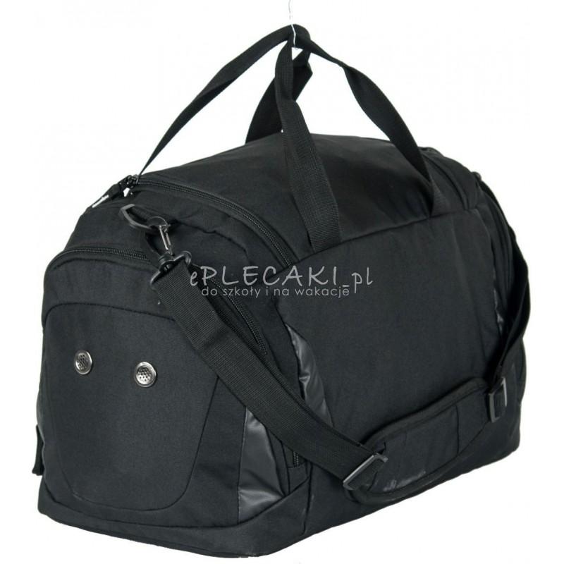 32b622123ce09 Torba sportowa męska fitness Paso Black czarna dla młodzieży