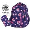 Plecak do klas 1-3 CoolPack CP granatowy w róże PRIME ROSE GARDEN 1058 dla dziewczynki + GRATIS