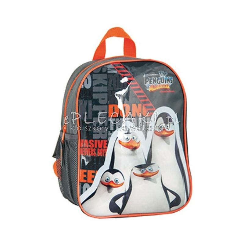 3477b1db97cd2 Plecaczek Pingwiny z Madagaskaru czarno-pomarańczowy - ePlecaki do ...