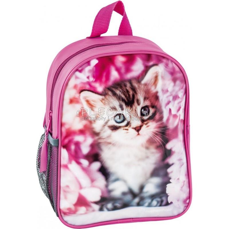 ce9b85ba192c7 Plecaczek Rachael Hale z kotem, różowy do przedszkola dla dziewczynki
