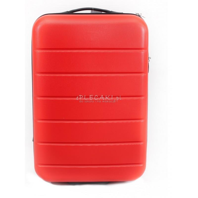 8e245d84fb609 Walizka średnia usztywniana na kółkach Zante Red czerwona dla kobiety.