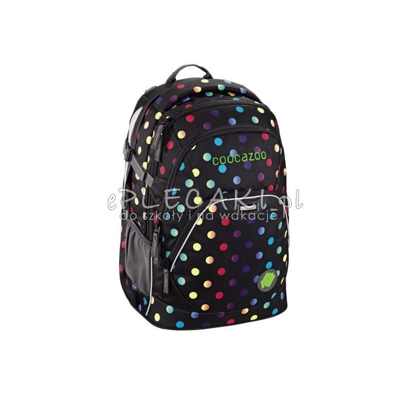 7ca1d9189e920 Plecak młodzieżowy COOCAZOO EvverClevver2 - Magic Polka - kolorowe kropki