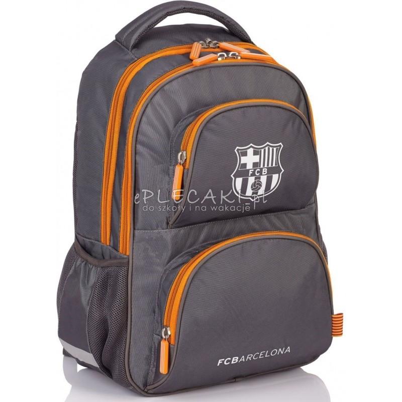 013bf362d82f1 Plecak młodzieżowy do szkoły FC Barcelona srebrny dla chłopca