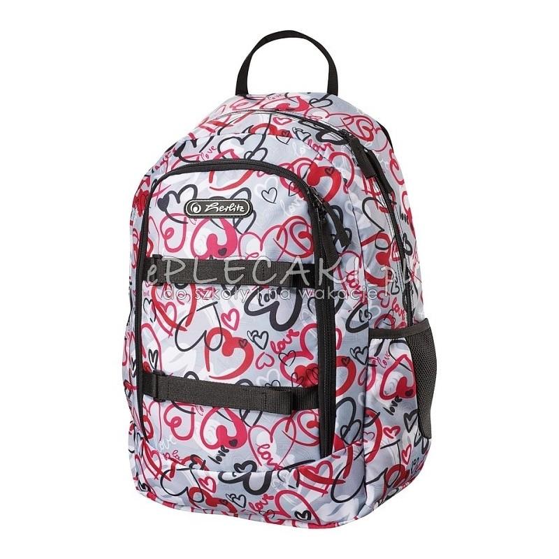 ae3e2f6bb2acb Plecak szkolny Herlitz Skater Style Hearts dla dziewczynki