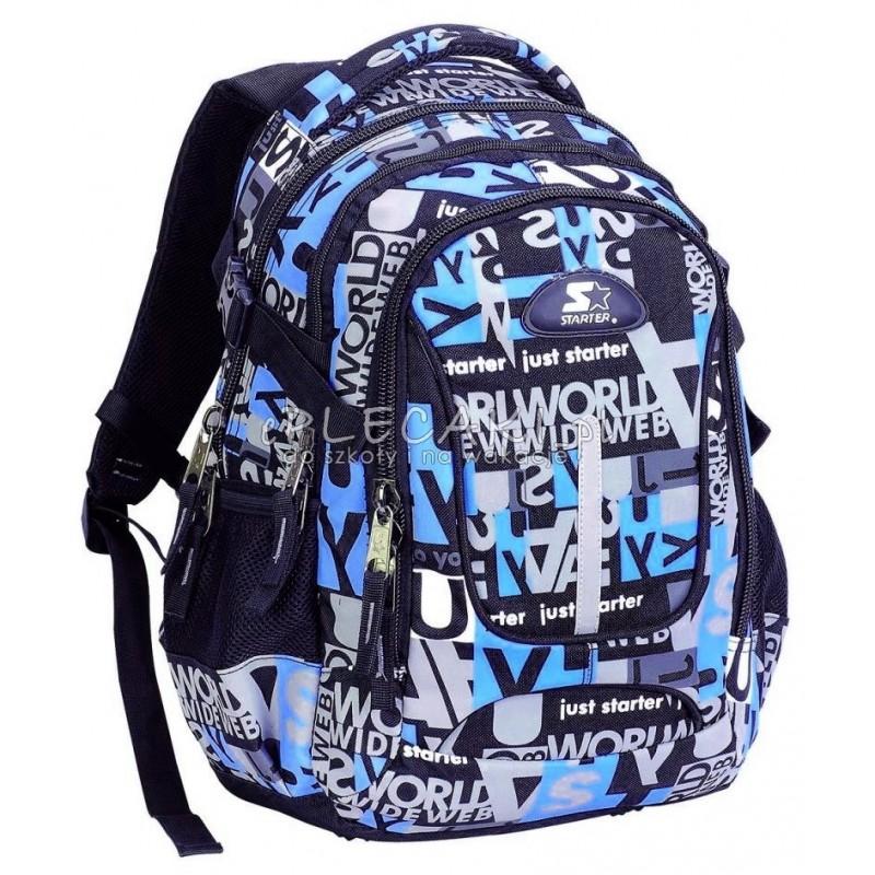 d871b3dde814 Plecak szkolny dla chłopca STARTER 0055 - niebieskie napisy