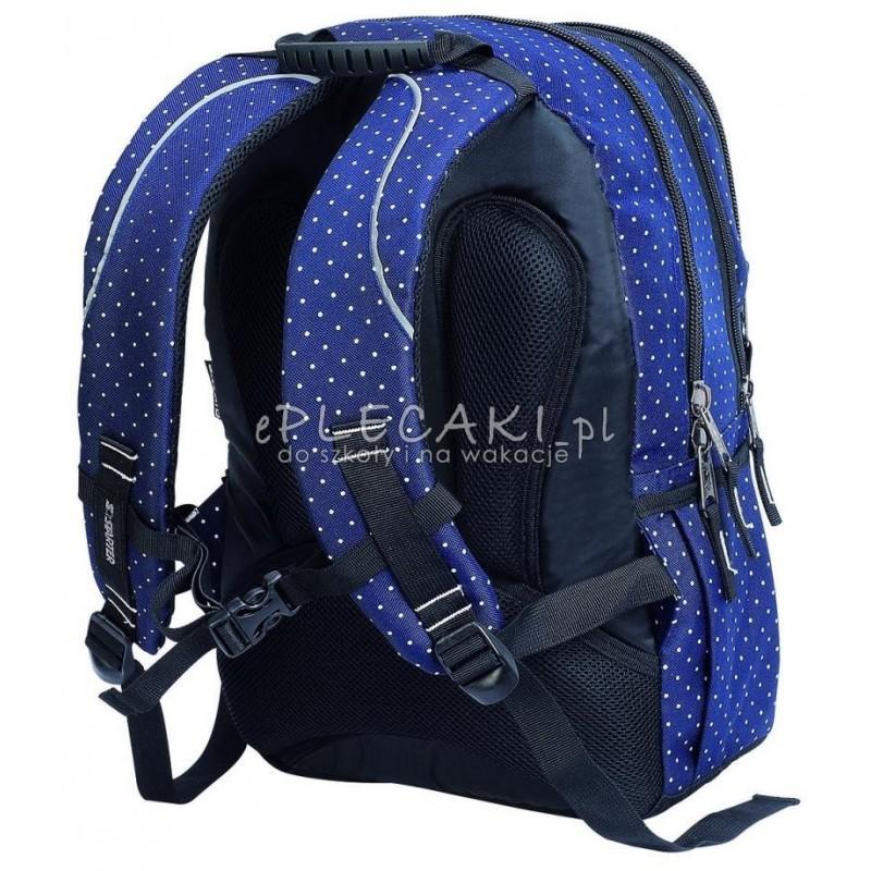 087479f2e64b4 Plecak szkolny dla dziewczynki STARTER 0063A - granatowy w kropki