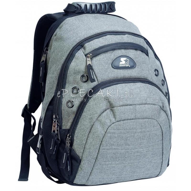 34b8154d774e2 Plecak młodzieżowy dla chłopaka STARTER 0091 szary na laptop