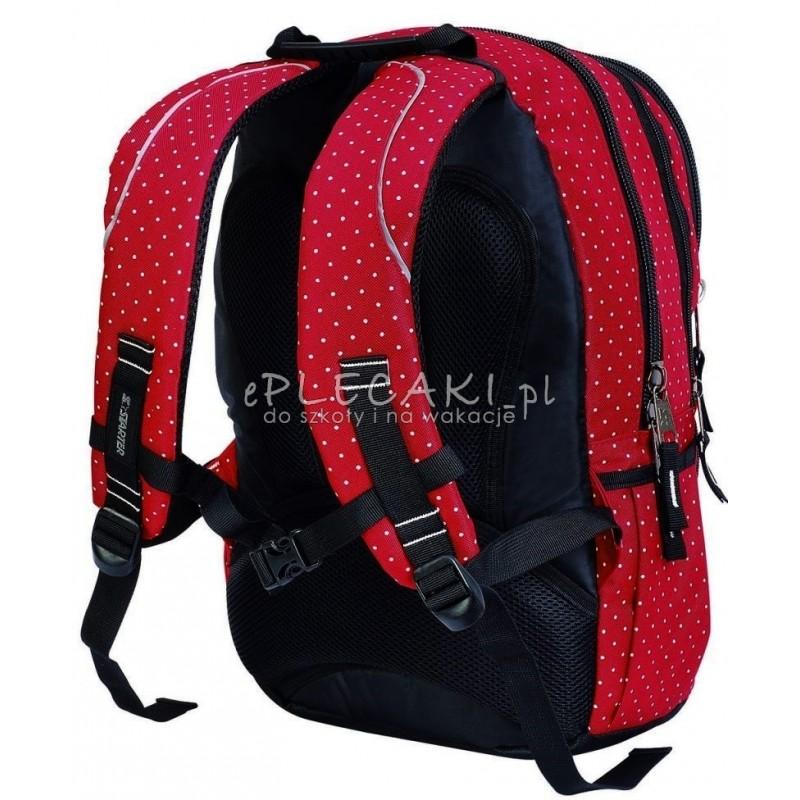 1c8ce2ffc43d0 Plecak szkolny dla dziewczynki STARTER 0063A - czerwony w kropki