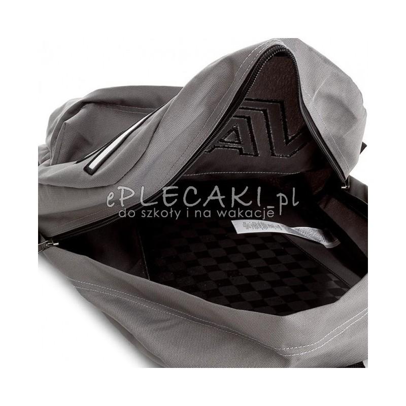 e38d6989b7278 Plecak miejski Vans Flying Pewter Grey szary z napisem