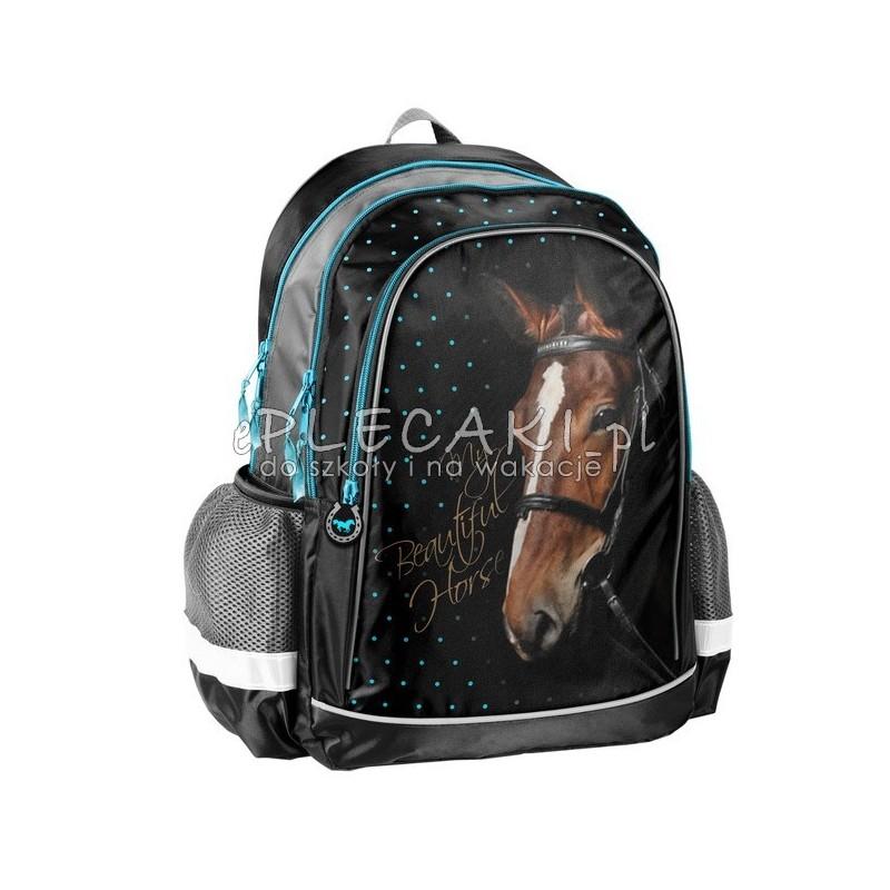 03e683ce1b5bc Plecak szkolny dla dziecka z koniem - piękny plecak z koniem do 1 klasy