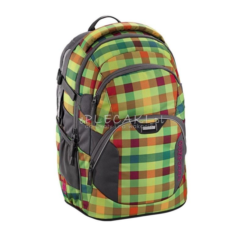 880cf6e960936 Plecak szkolny Hip To Be Square Green Coocazoo JobJobber 2 jasnozielona  kratka - modny plecak,