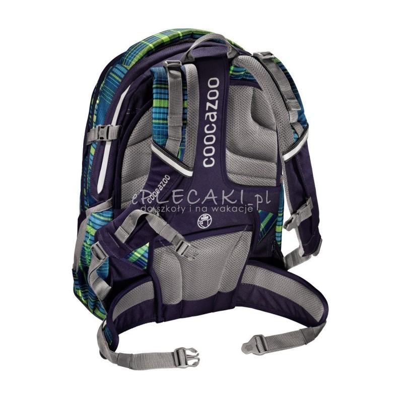 8619123499cae ... Plecak szkolny Walk The Line Lime Coocazoo Evverclevver 2 - zielona  kratka - solidny plecak do ...