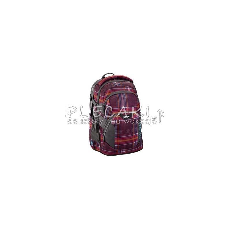 dfc552f370af8 ... Plecak szkolny Walk The Line Purple Coocazoo JobJobber 2 bordowa krata  - modny plecak dla chłopaka ...