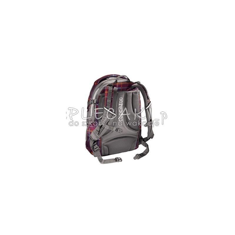 467c003e353dd ... Plecak szkolny Walk The Line Purple Coocazoo JobJobber 2 bordowa krata  - modny plecak dla chłopaka