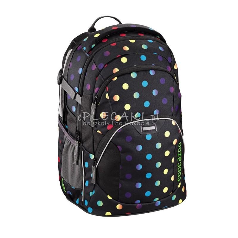 ad3d65713e6e9 Plecak szkolny Magic Polka Colorful Coocazoo JobJobber 2 czarny w tęczowe  kropki najwyższa jakość plecaków szkolnych