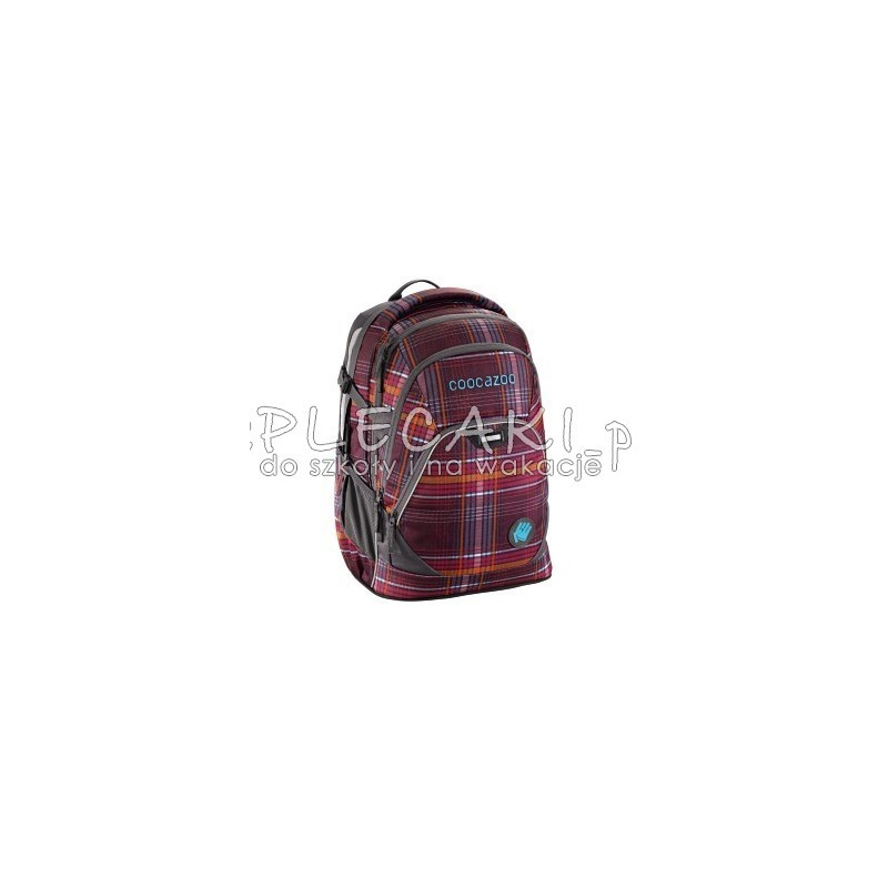 9cde2ffdad164 ... Plecak szkolny Walk The Line Purple – Coocazoo Evverclevver 2 - bordowa  kratka - solidne plecaki ...