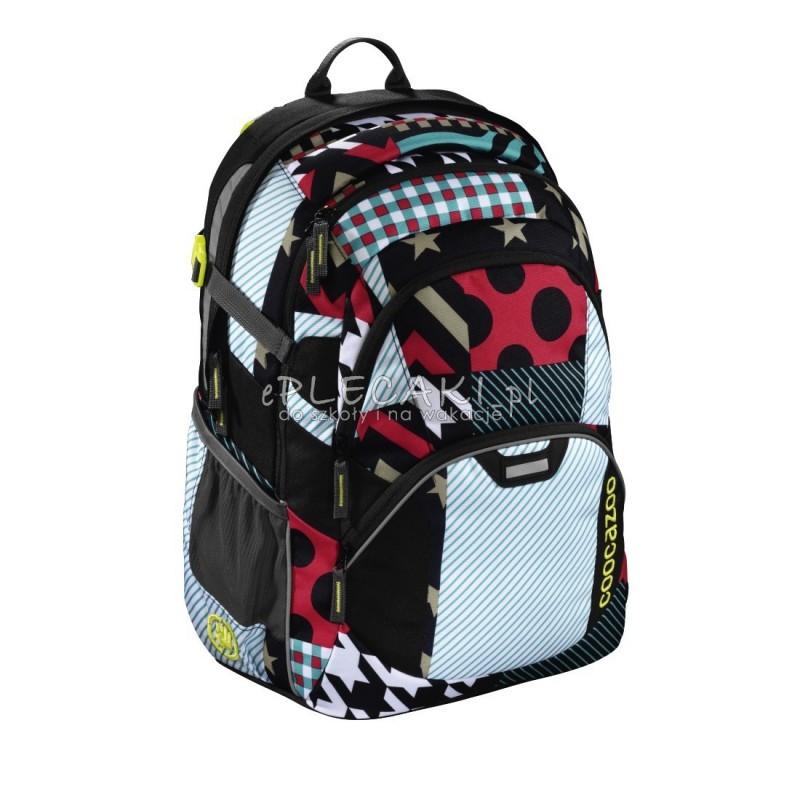 04cfb3384c888 Plecak szkolny Unique Patch Coocazoo JobJobber 2 patchwork dla ucznia