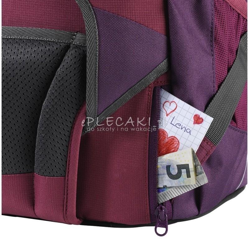 c5fd91c9e0afa ... Plecak szkolny SOLID Berryman - Coocazoo EvverClevver 2 - bordowy  MatchPatch - solidny plecak do szkoły ...
