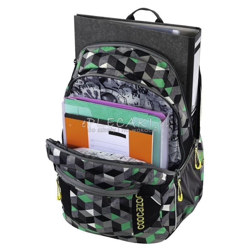 9395d0facd4b3 ... Plecak szkolny Crazy Cubes - Coocazoo JobJobber 2 - abstrakcyjne  sześciany modny plecak dla chłopaka