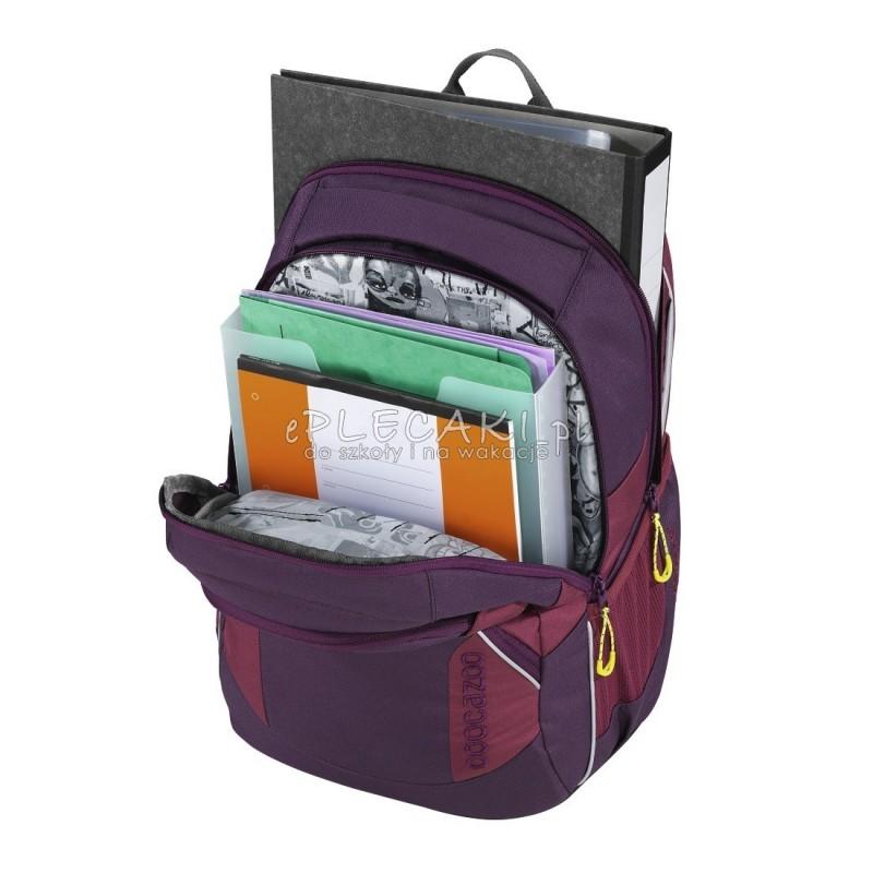 a99e48e95752c ... Plecak szkolny SOLID Berryman Coocazoo JobJobber 2 - bordowy -  MatchPatch - bordowy plecak dla nastolatków ...