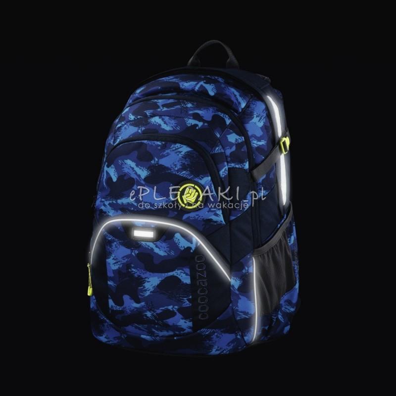 a0c9e8a1a7a3f ... Plecak szkolny Brush Camou Coocazoo Jobjobber 2 - granatowe fale -  najlepsze plecaki szkolne