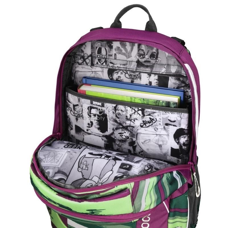 50956502a8575 ... Plecak szkolny Bartik - Coocazoo JobJobber 2 - zielony splot - modne plecaki  najwyższej jakości, ...