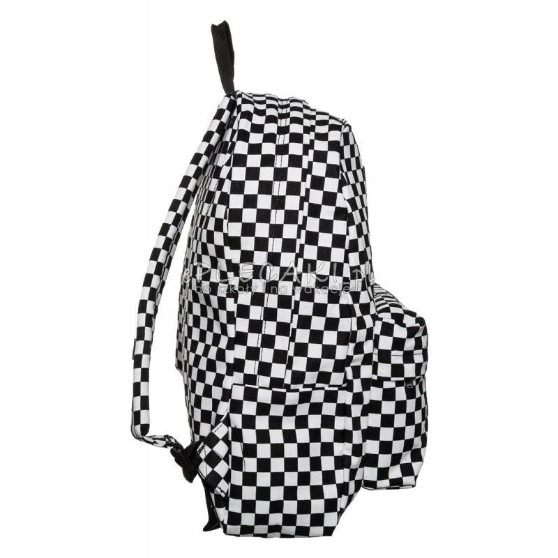 61db61e508789 Plecak miejski Vans Old Skool II Black/White Check czarno-biały kratka