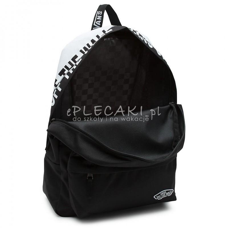 583e8a175e Plecak miejski Vans Sporty Black White czarny z napisem