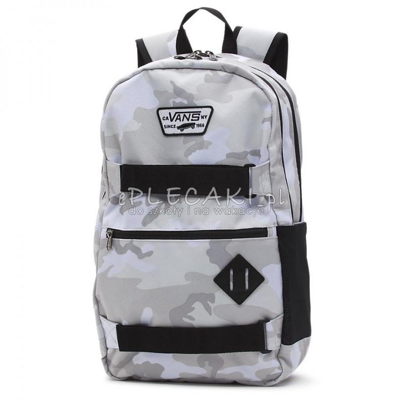 e6c6cb9ed5148 Plecak młodzieżowy VANS MN AUTHENTIC III SKA Snow Camo białe moro na laptop