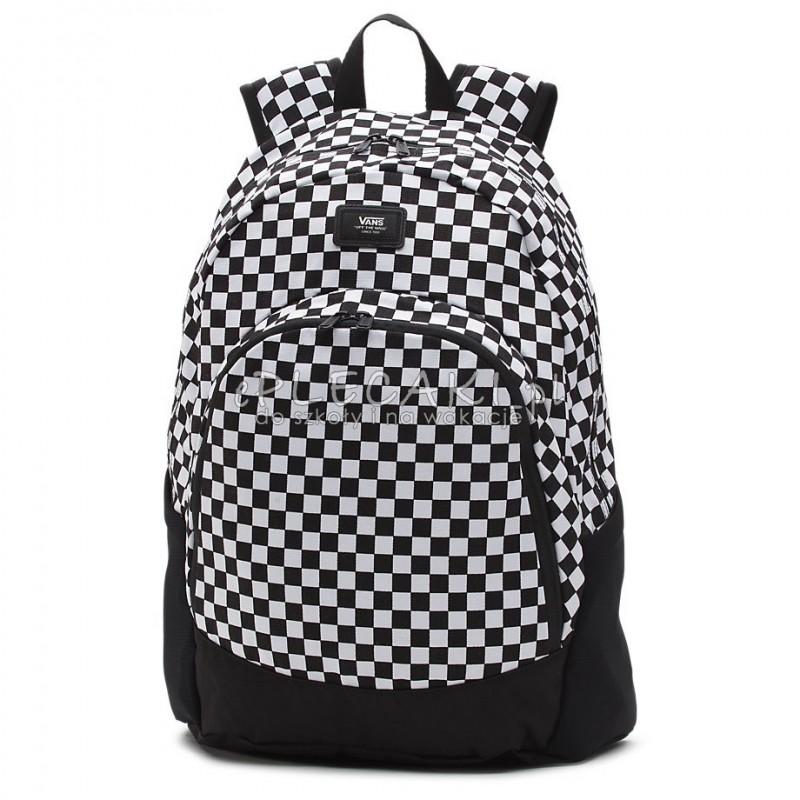 8a1d0b6235288 Plecak młodzieżowy VANS MN VAN DOREN ORYGINAL BLACK   WHITE szachownica
