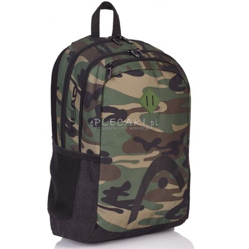 cbe849967bd08 Plecak szkolny młodzieżowy na laptopa Head moro dla chłopaka