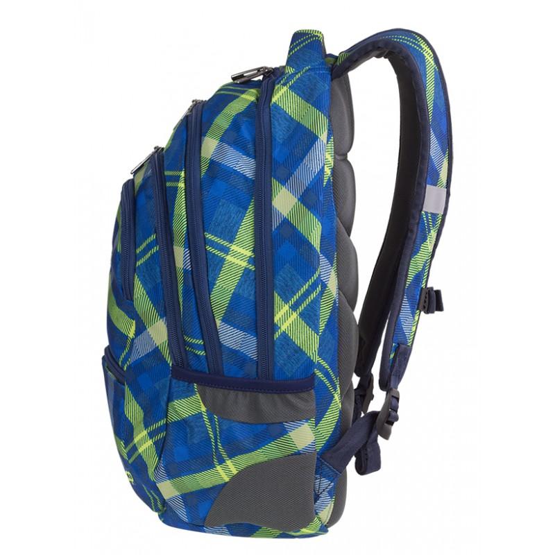 697def0e3e0e8 ... Plecak młodzieżowy CoolPack CP COLLEGE SPRINGFIELD zielony w kratkę - 5  przegród - plecak w niebiesko ...