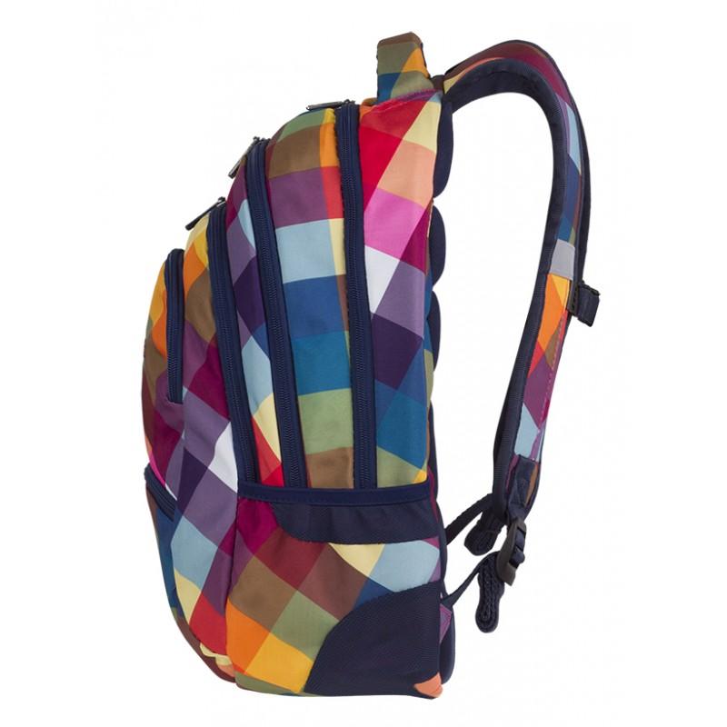 4b9c3b4b5f6f1 ... SZABLON Plecak młodzieżowy CoolPack CP COLLEGE CANDY CHECK kolorowe  kwadraty