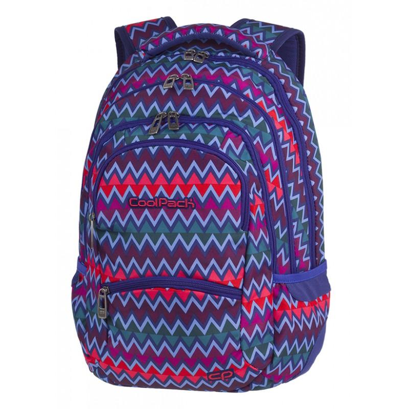 049d44d44b7cd Plecak młodzieżowy CoolPack CP COLLEGE CHEVRON STRIPES w kolorowe zygzaki -  5 przegród - A526 -