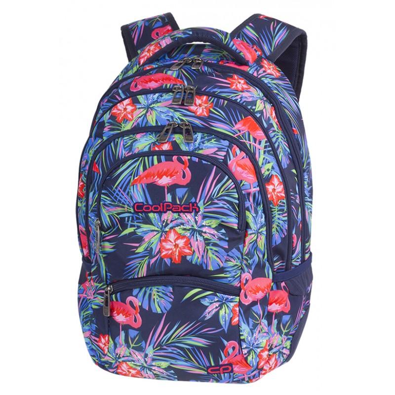 Plecak młodzieżowy CoolPack CP PINK FLAMINGO flamingi - 5 przegród - różowe flamingi dla dziewczynki